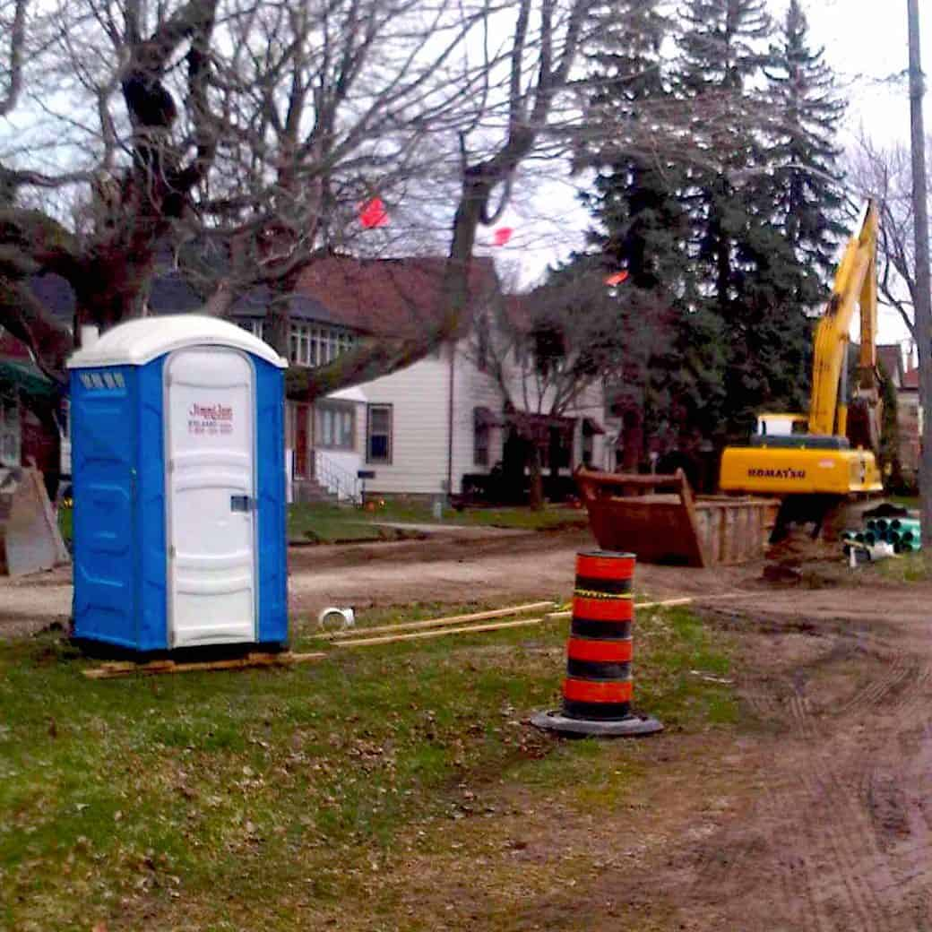 Construction Site Portable Toilet Rentals
